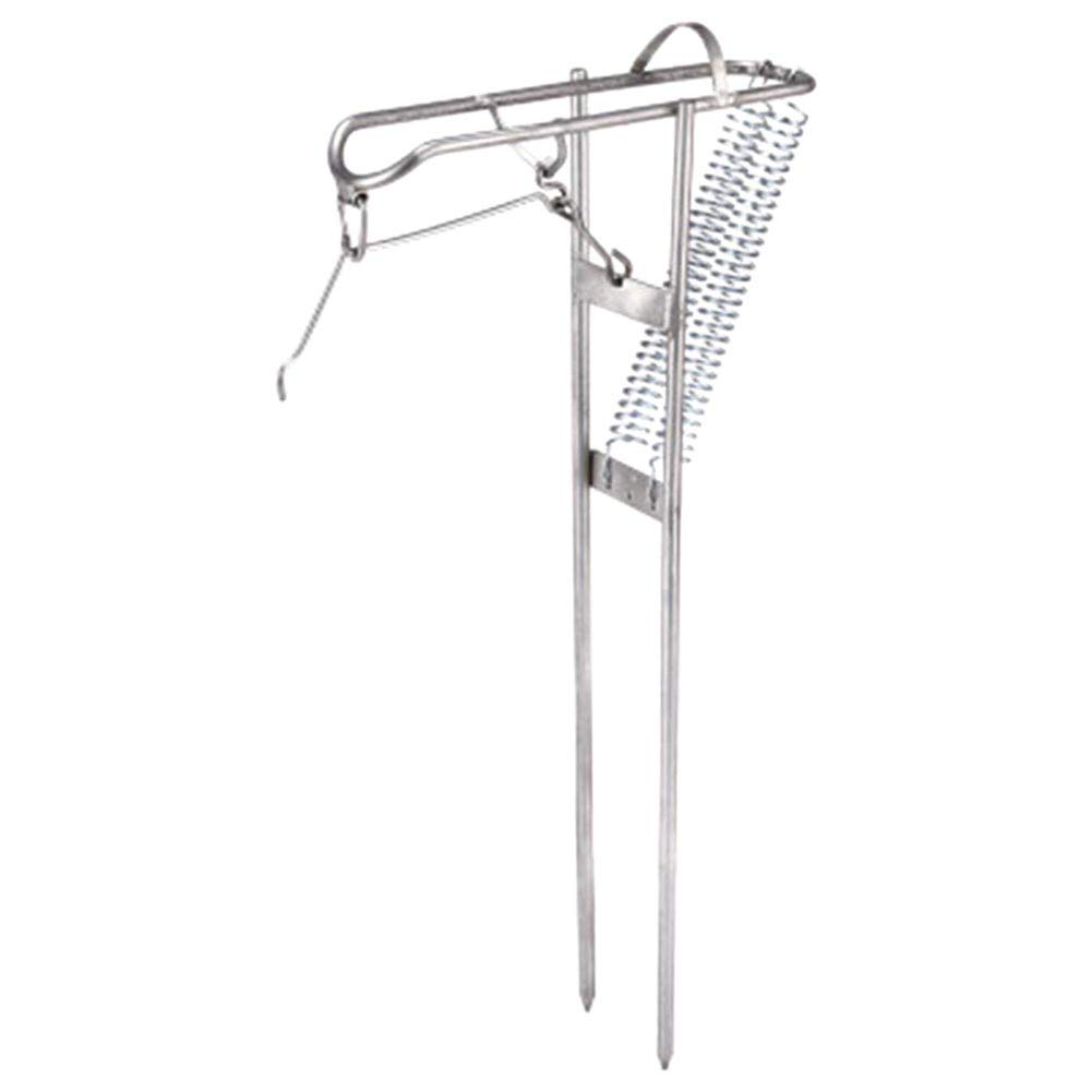 Fishing Rod Holder with Automatic Tip-Up Hook Setter Double Spring Fishing Stand