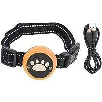 Collar de entrenamiento recargable, collares para dejar de ladrar, perro antiladridos para mascotas(Orange)