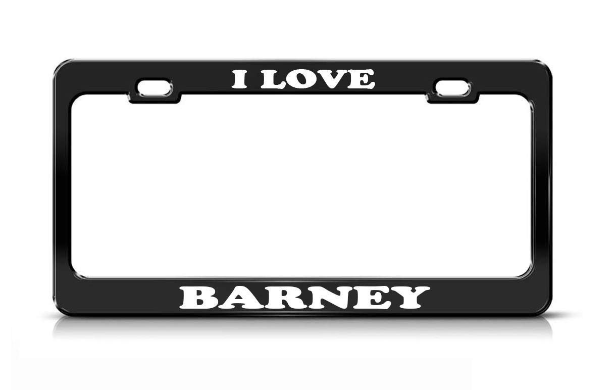 Amazon.com: YEX I Love Barney License Plate Frame Car Tag Frame Auto ...