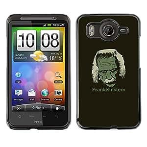MOBMART Slim Sleek Hard Back Case Cover Armor Shell FOR HTC G10 - Frankeinstein - Funny E1Nstein