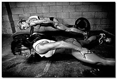 Tomorrow sunny Bodybuilding Motivational Silk Poster Gym Room Decor 24x36 inch 044