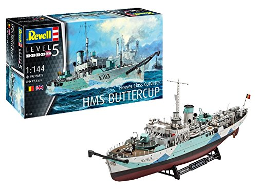 ドイツレベル 1/144 イギリス海軍 フラワー級 コルベット HMS バターカップ プラモデル 05158