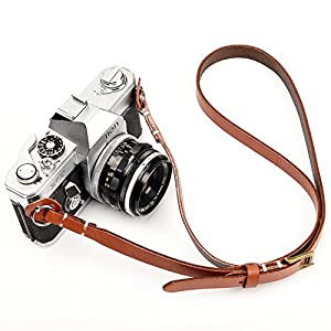 CANPIS Genuine Handmade Leather Camera Shoulder Neck Adjustable Strap for Nikon Canon Sony Pentax Leica Olympus Fuji New Design
