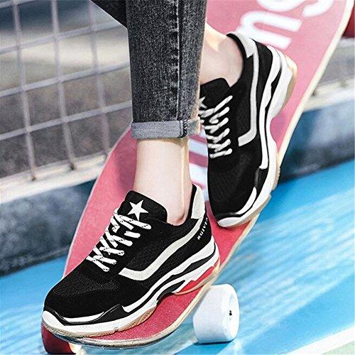 Casuales Redonda PU Harajuku Grueso Mujer Estilo de Fall Cuero Viajar Segundo Citas Fondo para de Comfort Zapatos Zapatillas Plana Correr Punta Zapatos Spring qnwAxfTW4