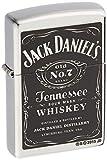 Zippo Jack Daniel's Tennessee Whiskey Label Pocket Lighter, Street Chrome