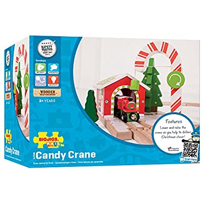 Bigjigs Rail Candy Crane - Other Major Wooden Rail Brands are Compatible: Toys & Games