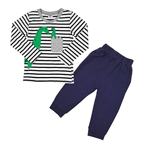 CM-Light Little Boys Long Panamas Set 2 Piece T-Shirt & Pants