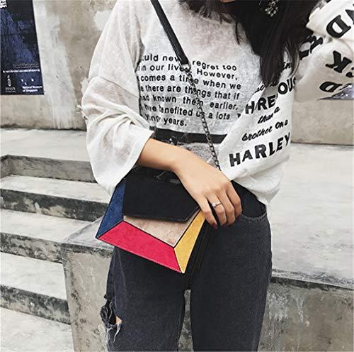 Costura Oblicuo Para Solo Un Ladies'color De Black Con Bolsos Color Marrón Hombro Liso Simple Bolso Totes RX8qdR