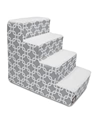 4 Step Portable Pet Stairs By Majestic Pet Products Gray Link...