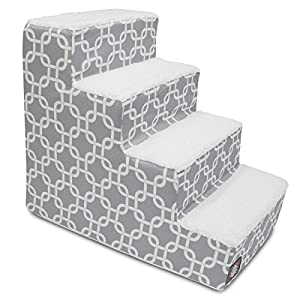 Majestic Pet Portable Foam Pet Stairs | Steps for Dogs & Cats | Dog & Cat Ramp | Perfect for Bed & Sofa | Indoor Only | Max Weight: Up to 25 lbs