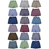 Classic Basics Men's Woven Boxers Sleep Shorts Travel Pack Collection