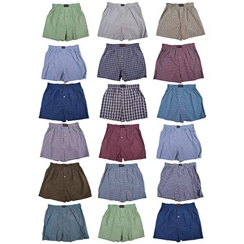 Wholesale Classic Basics Men's Woven Boxers Sleep Shorts Travel Pack Collection free shipping