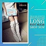 HIGH'S Nutritive Home Spa Manicure Foot Mask Moisturizing Socks, Long