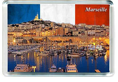 H161 マルセイユ 冷蔵庫マグネット フランス旅行冷蔵庫マグネット   B07PQTMY39