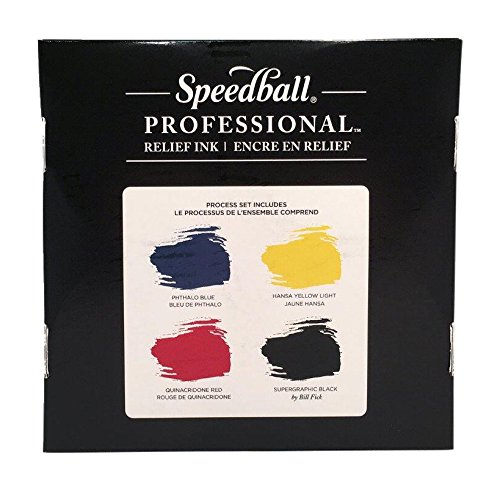 Speedball Professional Relief Ink, 8 Ounces, Set of 4 by Speedball