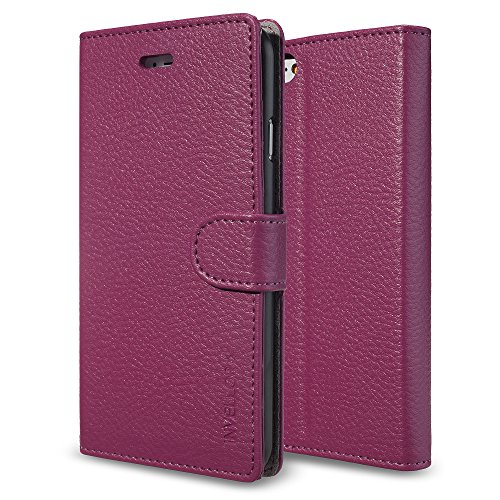 iPhone 6 PLUS case, iPhone 6S Plus case, Hot Pink INVELLOP Leatherette Wallet iphone 6 PLUS Case cover for the iPhone 6 Premium Wallet Case Flip Cover for Apple iPhone 6 PLUS (Hot Pink)