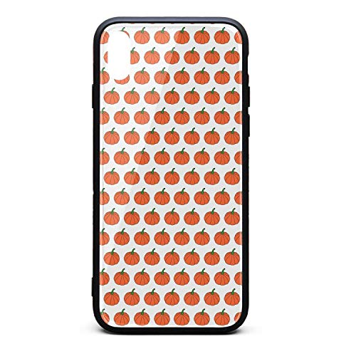 Cartoon Pumpkin Pattern Phone Case for iPhone Xs Max, Slim Protection Art Line Design Cell Phone Protective Case]()