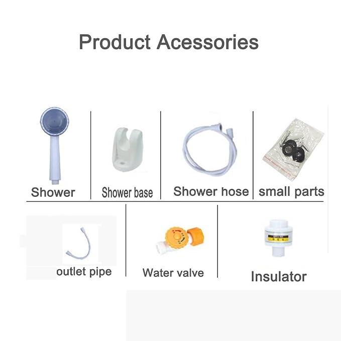Water heater 220V 5500W Calentador de Agua eléctrico instantáneo pequeño baño de Ducha doméstico para Cocina, baño, Servicio Roscloud@ (Color : A, ...