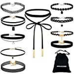 Paxcoo 10 Pieces Choker Necklace for...