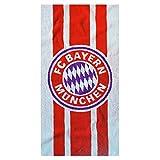 FC Bayern Munich Official Soccer Crest Design Beach Towel (One Size) (Multicoloured)