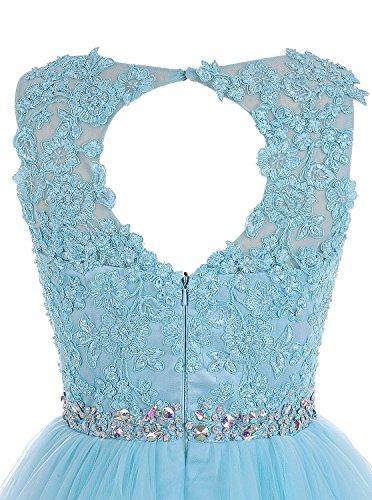 Abendkleid Applique Wulstige Kleid CoutureBridal® Kurze Brautjungferkleid ParteiKleid Rot Tulle Rn4gqPqwZ
