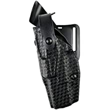 Safariland 6360 ALS/SLS Level-III Retention, Mid-Ride Duty Holster, Glock 17, 22, 31, STX Basket Weave Black, Right Hand