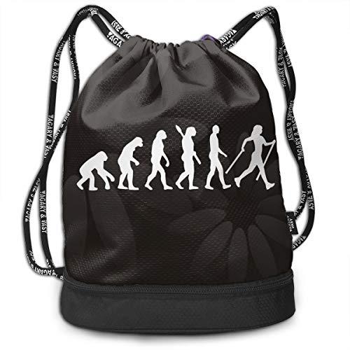 (Drawstring Backpack Evolution Nordic Walking Shoulder Bags)