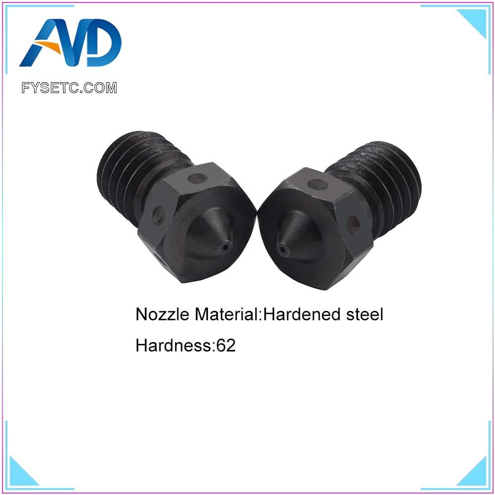 Zamtac 2 boquillas de acero endurecido V6 para impresión 3D de ...