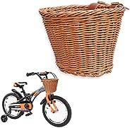 Qudodo Children's Bicycle Basket, Wicker Imitation Bicycle Basket Toys, Soft Material, No Harm, Very Suita