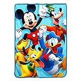 Disney's Mickey's Roadster Racers, '4 Ever' Micro Raschel Throw Blanket, 46' x 60', Multi Color