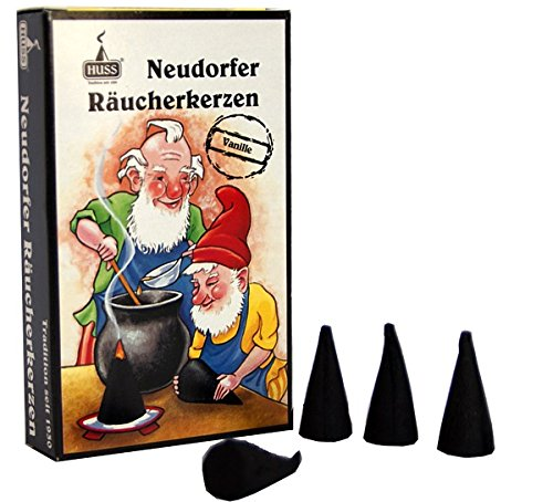 HUSS Incense Cones for German Incense Smoker - Vanilla Scent - Eco-friendly Handmade in Germany