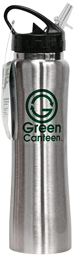 837b5b9a85 Green Canteen Stainless Steel 25-Ounce Sports/Hydration/Water Bottle, Silver