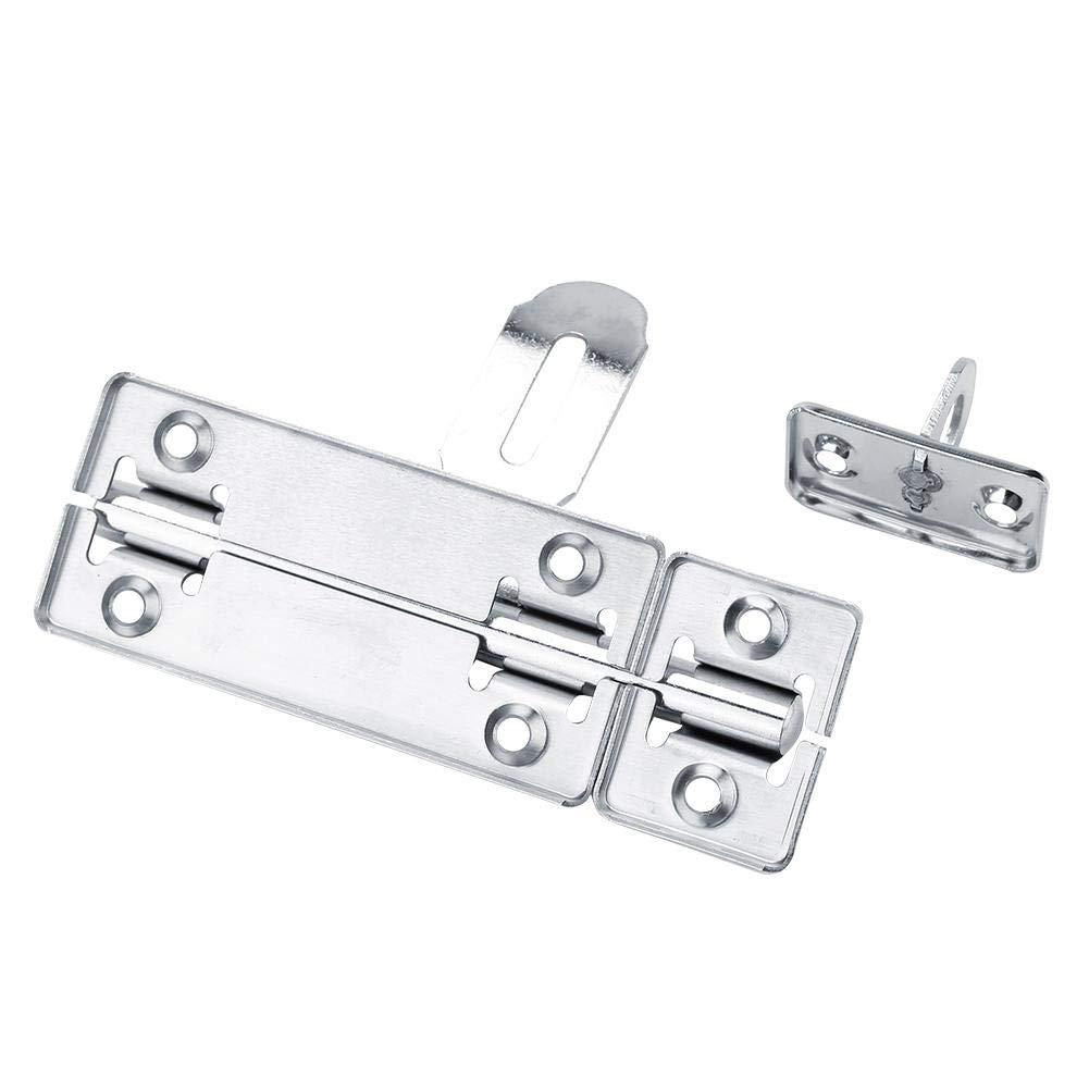Slide Bolt Gate Latch Safety Door Lock Padlock Hole Dia Bar Heavy Duty Solid Stainless Steel Chrome Finish 6寸