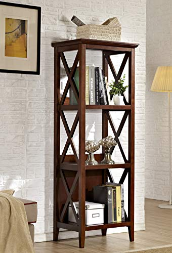 Used, Mixcept 59'' Solid Pine Wood Bookshelf 3 Tier Bookcases for sale  Delivered anywhere in USA