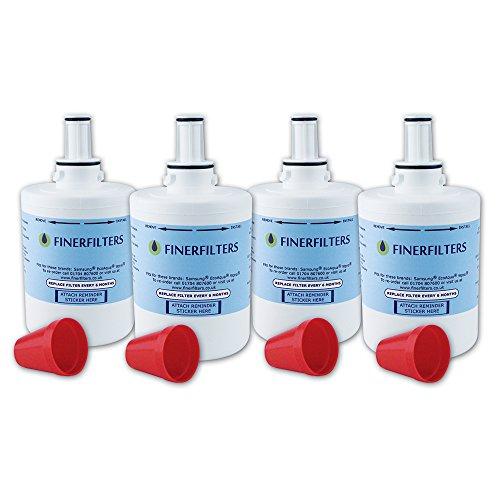 4 x Finerfilters Compatibel Samsung Aqua Pure Plus Koelkast Waterfilter DA29-00003 Past B F of G Versie