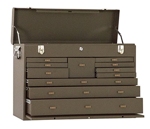 Kennedy Manufacturing 52611R 27' 11-Drawer Machinists' Steel Tool Storage Chest, Industrial Red