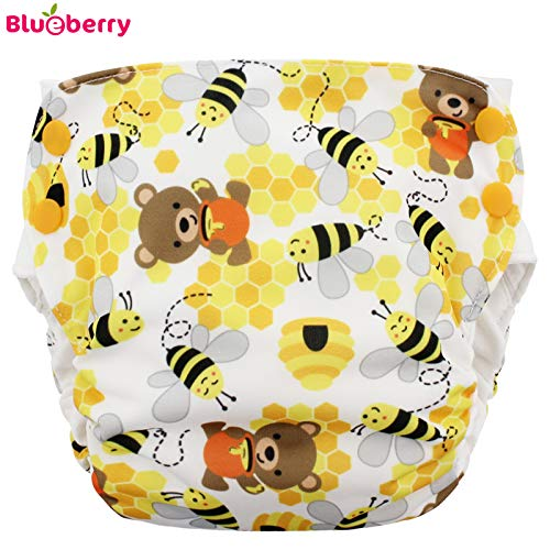 AIO 5-12 kg Gr/ö/ße M - Bears and the Bees Bio-Baumwolle Blueberry Simplex 2.0 Side Snap