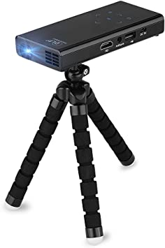 E06 - Mini Portatil Proyector DLP LED con Trípode (Soporta 1080P ...