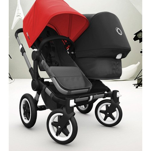 Bugaboo Donkey Duo Extension Set - Black/Black by Bugaboo
