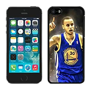 New Custom Design Cover Case For iPhone 5C Generation Golden State Warriors Stephen Curry 3 Black Phone Case