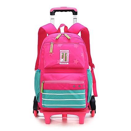 Daytwork Mochilas Bolsas Escolares - Mochilas Infantiles Niña Maletas Trolleys Seis Rondas Viaje Bolsa de Estudiante (6 Ruedas): Amazon.es: Equipaje