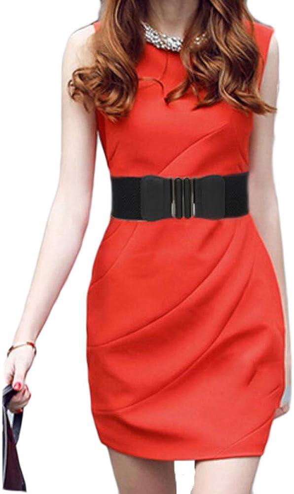 Oyccen Womens Wide Waist Cinch Belt Elastic Waistband Stretchy Dress Belts For Ladies Girls