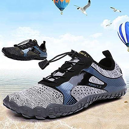 Leobtain Chaussures deau Hommes Femmes Piscine /à S/échage Rapide Aqua Barefoot Aqua Sports Nautiques Surf Beach Nautisme Plong/ée en Apn/ée Plong/ée Chaussettes Lac Yoga Chaussures