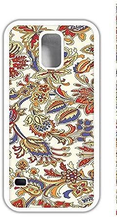 Diseño personalizado tapa personnalisée galaxy s5 caso I9600 - patrón Floral HD Wallpaper: Amazon.es: Electrónica