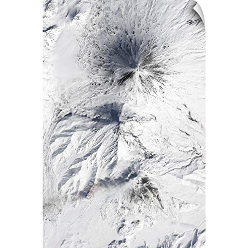 (CANVAS ON DEMAND Bezymianny Volcano emits a Plume of steam and Gases from its Lava Dome Wall Peel Art Print,)