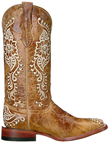 Ferrini Women's Ladies Wild Flower A/s Square Toe Western Boot A/S nM55fYRL