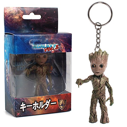 8 Types Mini Groot Figures Movie Guardians of the Galaxy Keychain Pendant Model Toy Best Gifts (1) by SZYM