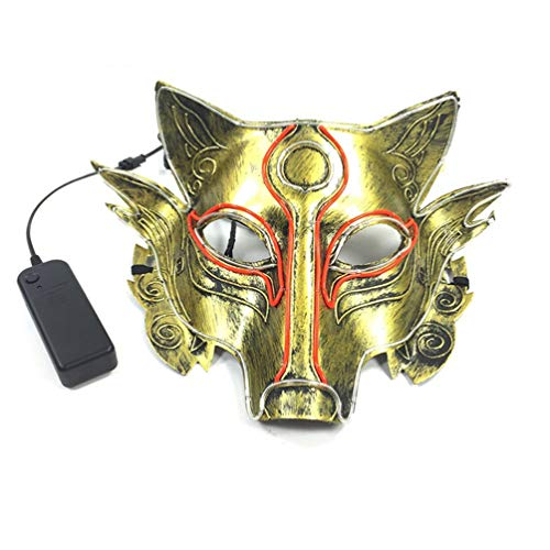 TZFLEDMAS LED Wire Mask Event Supplies Gifts Maskfor Masquerade Cosplay Props Steady on ()