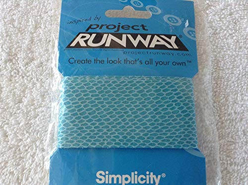 (Simplicity Project Runway Faux Snake Skin Turquoise Ribbon 1 Yard)