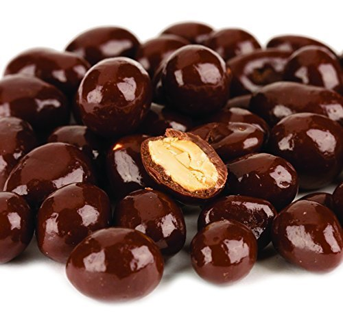 Dark Chocolate Covered Peanuts, No Sugar Added, 10 Lb. Case by Bulk Foods Inc. ()